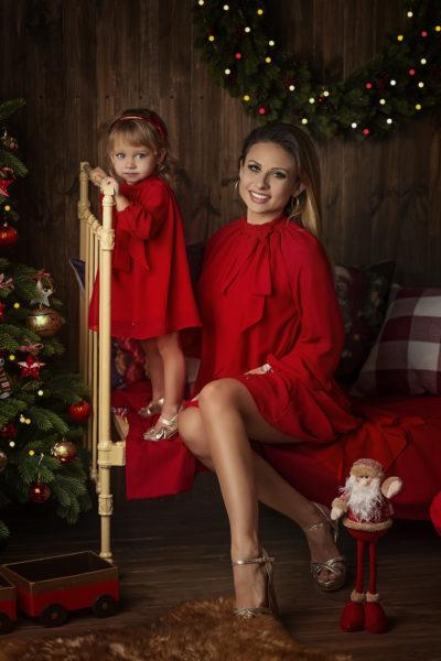 thumbnail Sukienka POSINI czerwona dla mamy