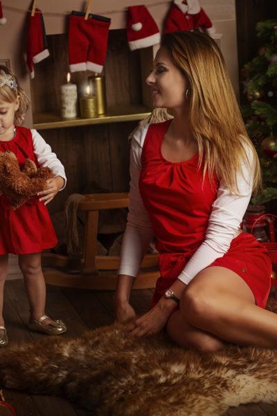 thumbnail Sukienka PRIMA czerwona dla mamy