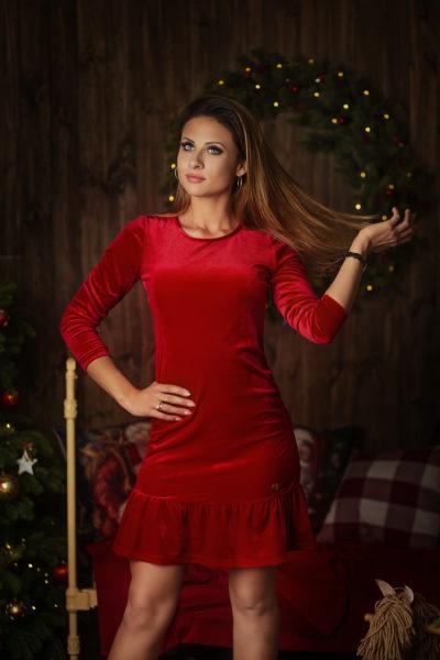 thumbnail Sukienka PULSI czerwona dla mamy