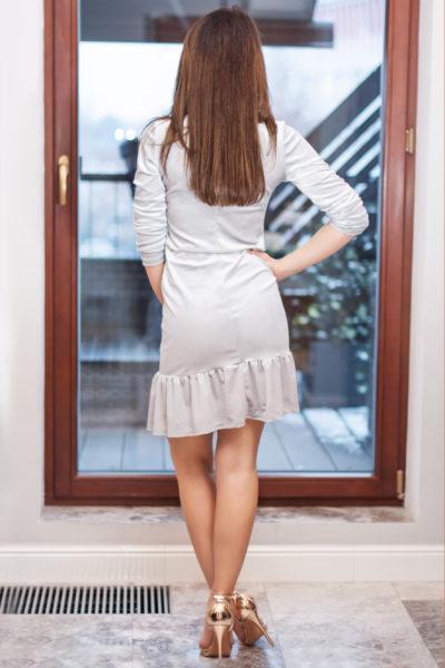 thumbnail Sukienka PULSI srebrna dla mamy