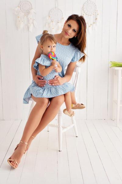 thumbnail Sukienka PISELLI błękitna dla mamy