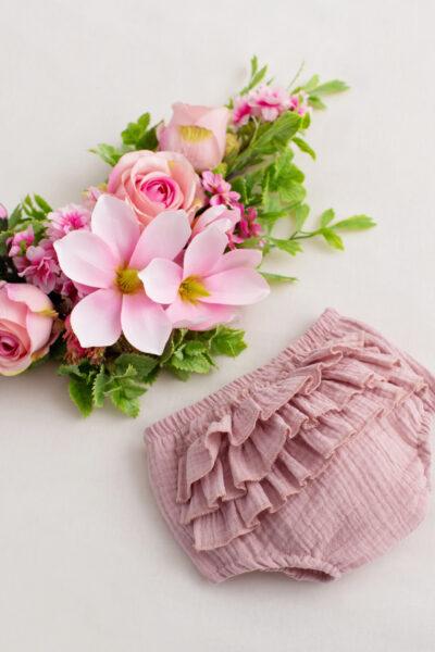 thumbnail Bloomersy muślinowe różowe