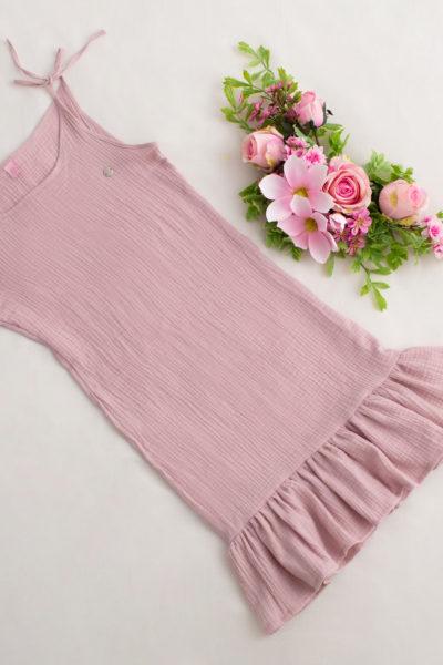 thumbnail Sukienka PRIMAVERA różowa dla mamy
