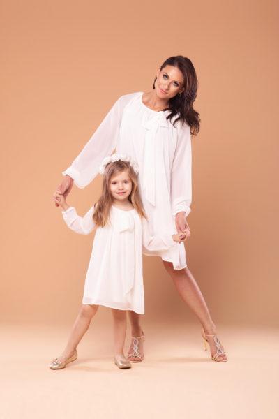 thumbnail Sukienka ROSA biała dla mamy